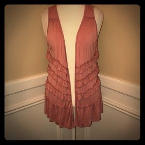 POL Pink Ruffle Vest Size Small
